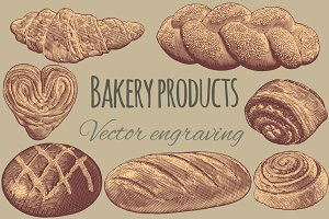 Set Bakery products