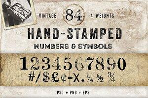 Vintage Hand Stamped Numbers