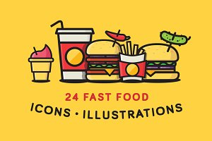 Fast Food Icons / Illustrations