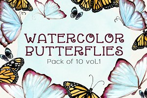 Watercolor Butterflies Vol.1