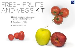 Fresh Fruits and Vegs Photo Kit