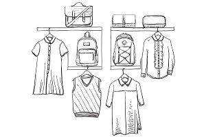 School uniform. Wardrobe