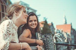 street musicians in Amsterdam