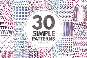 30 Simple Seamless Patterns
