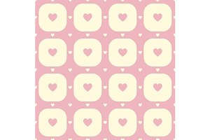 Pink heart pattern. Vector