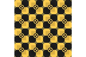 Black and yellow pattern. Vector