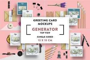 Greeting Card S.Sided Mockups 12x10