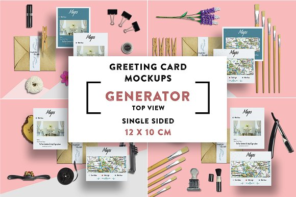 Greeting Card S.Sided Mockups 12x10 - Product Mockups