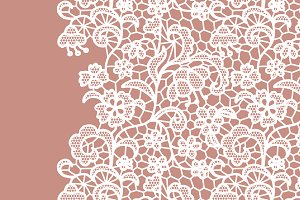 Lacy vector elegant collection.