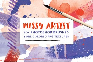 Messy Artist Photoshop Brushes
