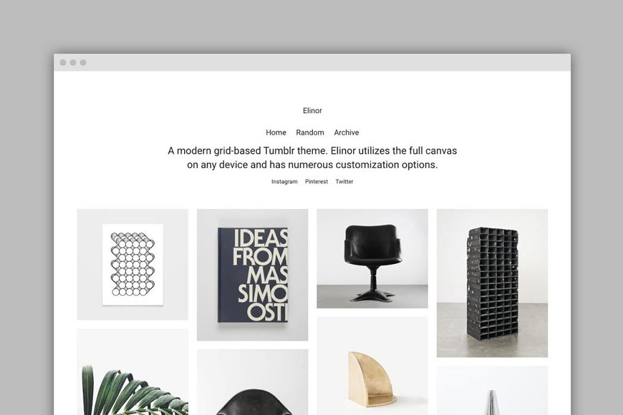 Elinor Tumblr Theme ~ Tumblr Themes ~ Creative Market