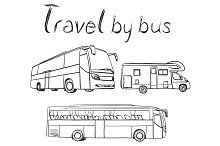 Bus for travel