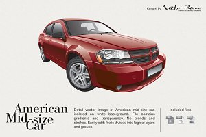 American Mid-size Car
