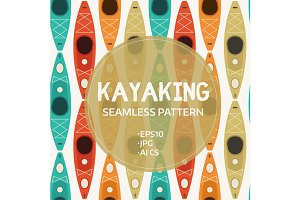 Kayak Seamless Pattern
