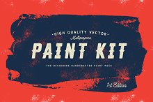 Paint Kit Vector - Painted Shapes