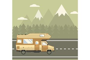 Road Travel Poster