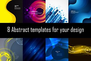 8 Abstract templates for your design