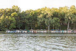 Pontoons on the lake M