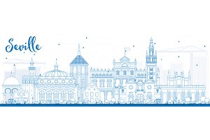 Outline Seville Skyline