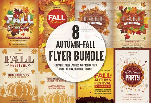 Autumn Fall Flyer Bundle ~ Flyer Templates ~ Creative Market