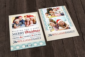 Christmas Card Template - Bokeh