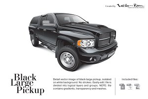 Black Large Pickup