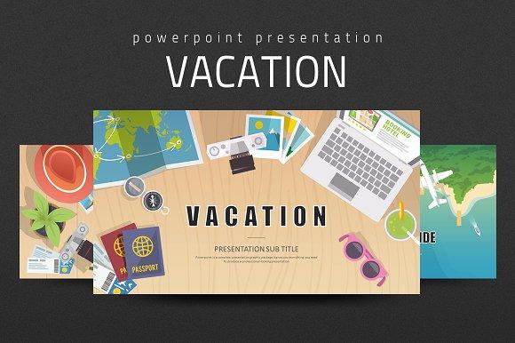 vacation powerpoint presentation templates creative market