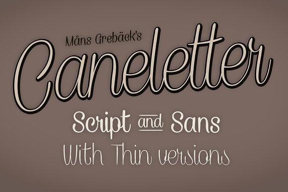 Caneletter in Sans-Serif Fonts