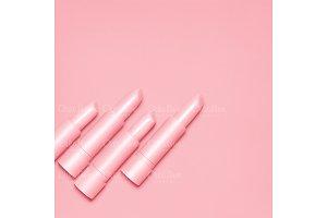 Pink lipsticks.