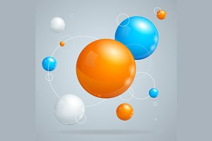 Background with Colored Balls