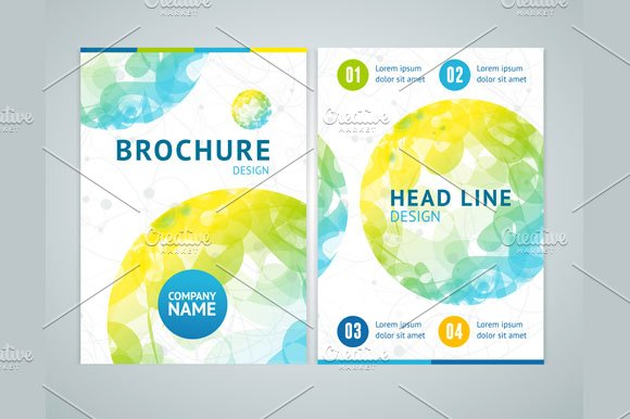Brochure Design in A4 Size. Vector - Illustrations