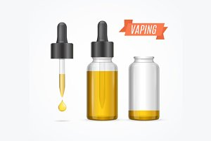 Vaping E-liquid Bottle, Vector