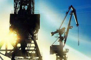 Cranes at the port