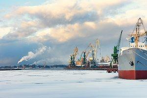 Riga. Port. Baltic