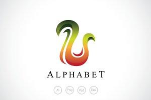 Alphabet U Logo Template