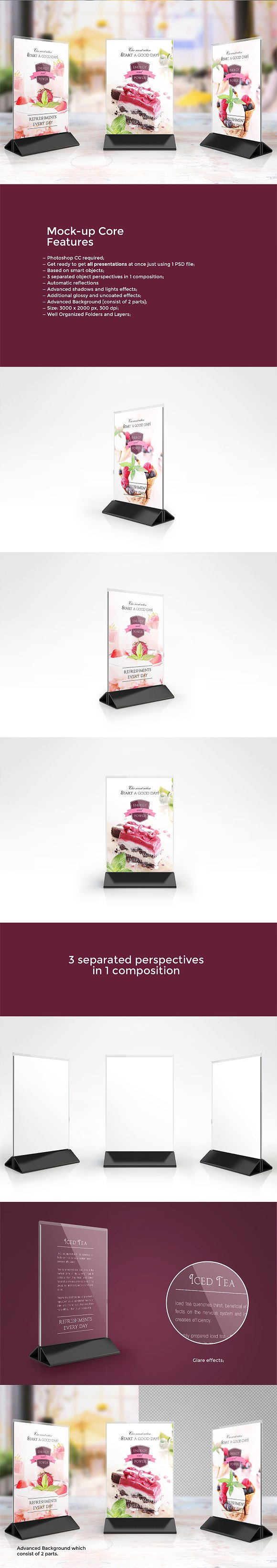 Download Table Tent Mock-up Vol.7