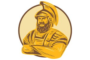 King Agamemnon Arms Crossed Circle