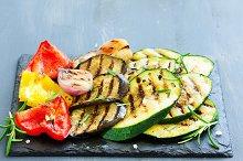 vegetables grilled.