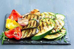 vegetables grilled.