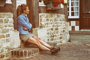 Sit woman