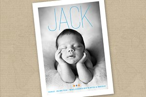 Birth Announcement Template (Jack)