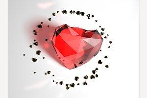 Heart 3D rendering