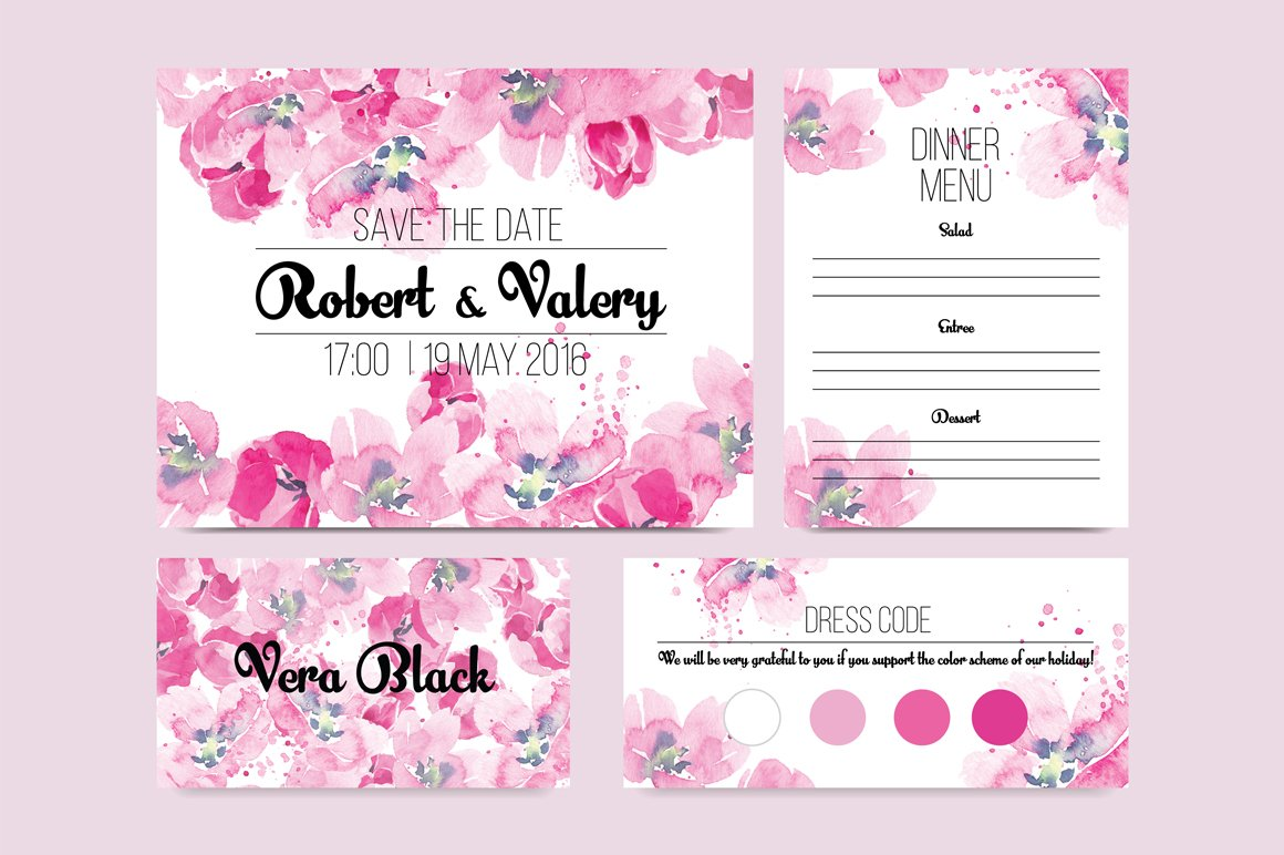 Tulip wedding invitation ~ Invitation Templates ~ Creative Market