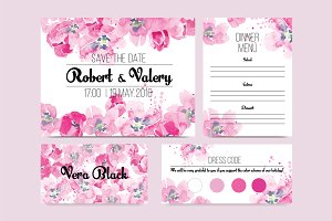 Tulip wedding invitation