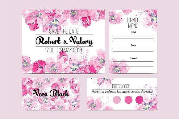 Tulip Wedding Invitation Invitations
