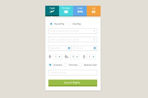 Travel Booking Widget