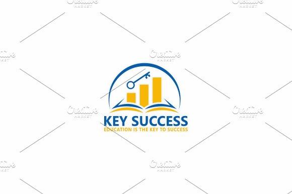 Key success logo template logo templates creative market key success logo template logos pronofoot35fo Images