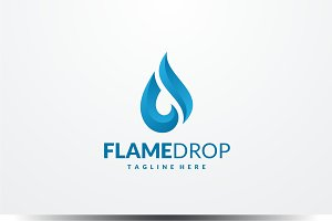 Flame Drop Logo