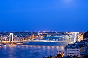 River View of Budapest at Night