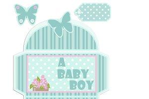 Congratulatory envelope for newborn
